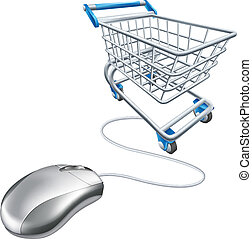 Mouse shopping cart - Computer mouse shopping cart...