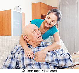 senior man with mature wife