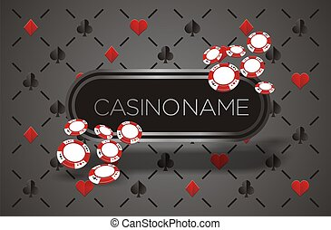 casino banner with playing card ba - suitable for background