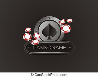 spade with poker chips - suitable for decorations