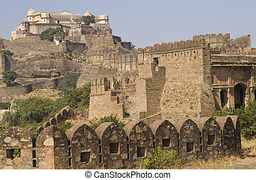 Rajasthan - 15th century fortress at Kumbhalgarh in...