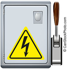 electrical panel - electroboard abstract vector illustration...