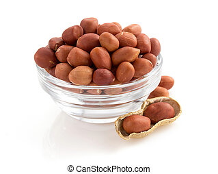 nuts peanuts on white - nuts peanuts isolated on white...