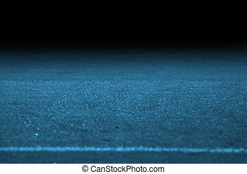 soccer pitch with blue cold light and gradient - The soccer...