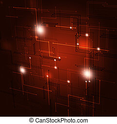 Abstract Geometric Red Background