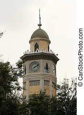 Moorish Clock Tower in Guayaquil - A clock tower with a...
