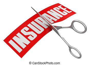 Rubber Stamp Insurance Image with clipping path