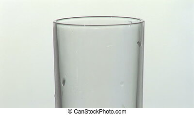 Isolated glass with mineral water