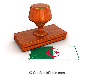 Rubber Stamp Algerian flag - Rubber Stamp Algerian flag....