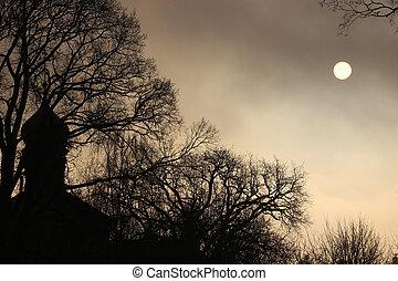 修道院, 夜晚