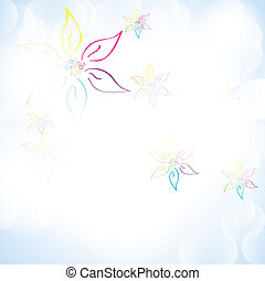 Colorful summer spring background with abstract flowers