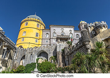 Pena National Palace in Sintra, Portugal.