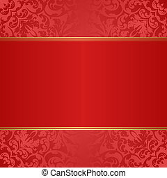 red background with