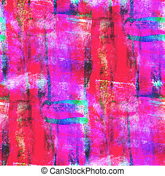 abstract avant-garde red, pink, blue seamless wallpaper...