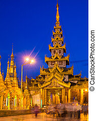 Shwedagon Pagoda in Yangon, Myanmar Oldest building