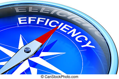 efficiency - 3D rendering of a compass with a efficiency...