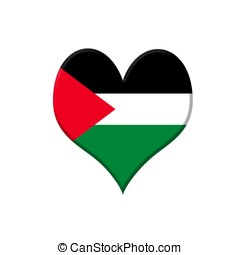 Palestine heart. - Illustration with a Palestine heart on...