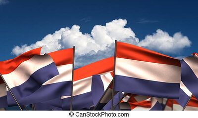 Waving Dutch Flags seamless alpha channel