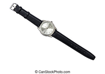 Mens wrist watch - Classic Analog Mens Wrist Watch isolated...