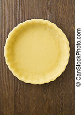 Pie or flan pasty case, empty - An unfilled pastry pie or...