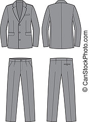 Business suit - Vector illustration of men's business suit....