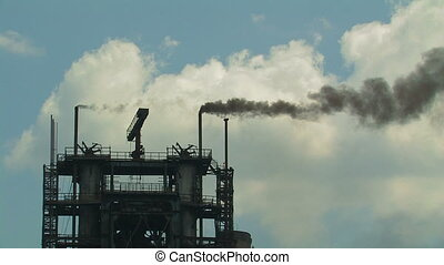 Industrial building - Industrial building with smoking...