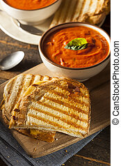 Grilled Cheese Sandwich with Tomato Soup - Grilled Cheese...
