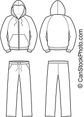 Sport suit - Vector illustration of smock and pants. Front...
