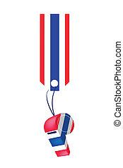 A Thai Whistle Hanging on A Stripe Tag - Thai Whistles...
