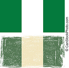 Nigerian grunge flag Vector illustration