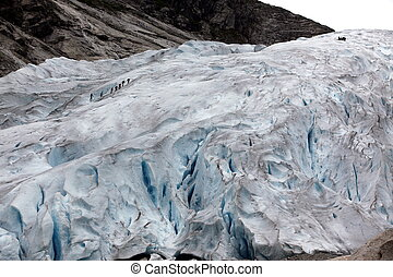 Norway, Jostedalsbreen National Park. Famous Briksdalsbreen...