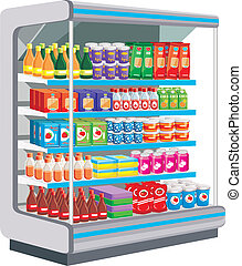 Dairy products.  - Supermarket. Dairy products. vector