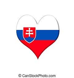 Slovakia heart.