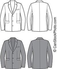 Business jacket - Vector illustration of men's business...