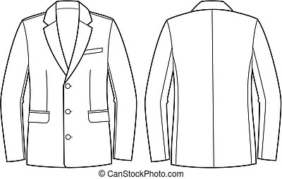 Business jacket - Vector illustration of men's business...