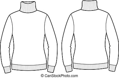 Sweater - Vector illustration of sweater. Front and back...