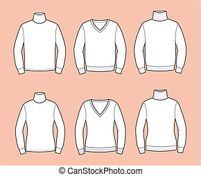 Jumper - Vector illustration of men's and women's sweaters
