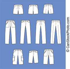 Pants - Vector illustration of pants