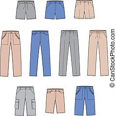 Pants - Vector illustration. Set of pants
