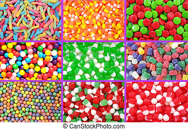 colorful neon gummy candies for background use