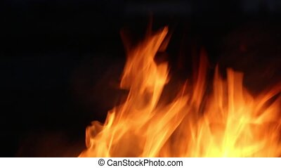 Abstract fire close up