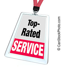 Top Rated Service Employee Badge Name Tag Customer Support -...