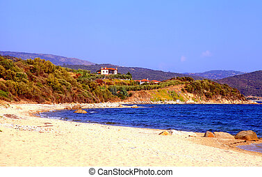 Beautiful seascape, Chalkidiki, Greece - Beautiful panoramic...