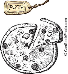 llustration of pizza
