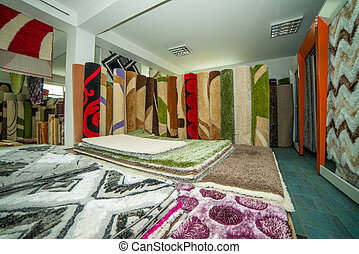 Stack Of Rugs - Colorful Collection Of Carpets And Rugs...