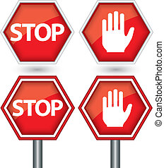 Stop sign, vector illustration