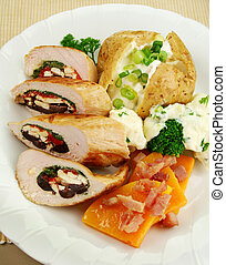 Stuffed Chicken - Chicken stuffed with a Mediterranean...