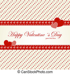 Valentines day card with heart. Vector illustration....