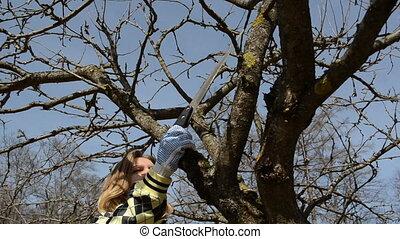 hobby spring woroks - woman gardener spring garden hobby...