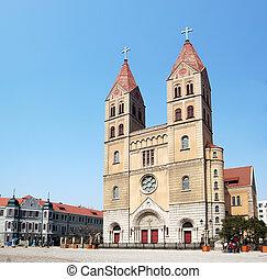 "Qingdao Catholic Church - \""View of Qingdao Catholic Church..."